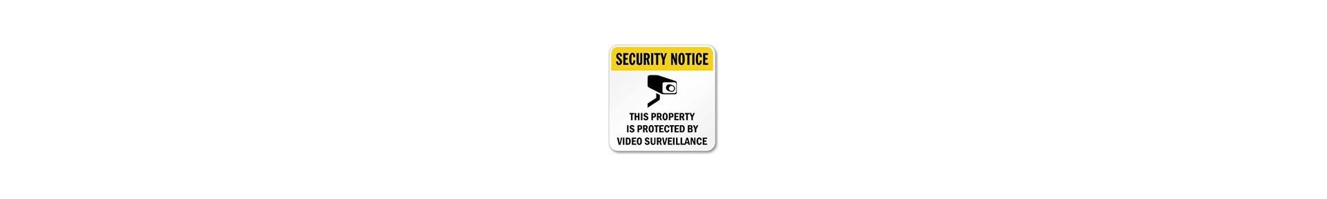 Security signs, video surveillance signs, warning signs, no trespassin