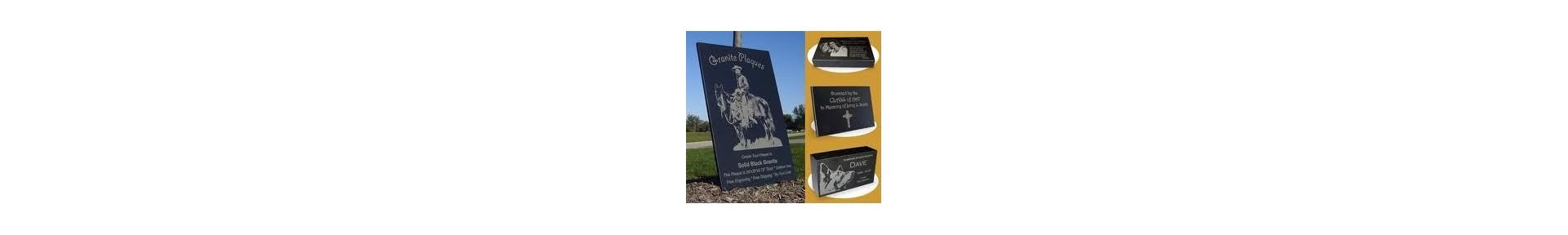 Engraved Granite Plaques, Granite Signs, Granite Markers, Granite Memo