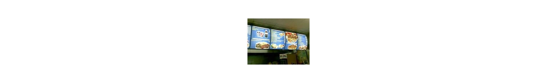 Restaurant Menu Boards   Digital Menu boards   Lightboxes