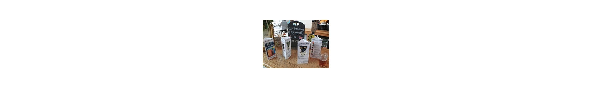 Plastic Table Tents - Table Talkers - Table Signs
