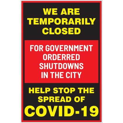 Covid 19 Temporarily Closed
