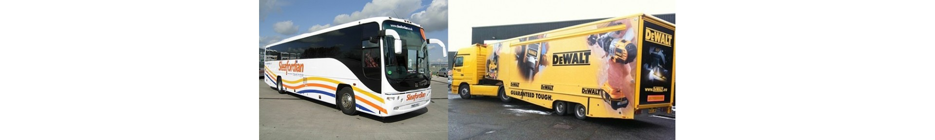Larger vehicle Graphics | Bus Graphics |  Lorry, truck or box van Grap