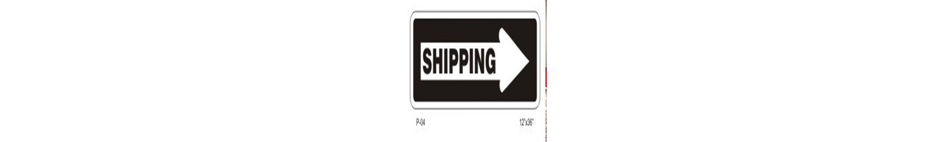 Trucks, Shipping &amp, Receiving Signs &mdash