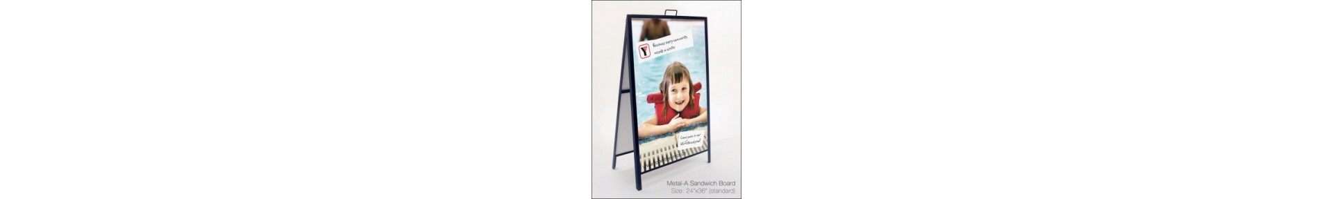 Pavement signs, A Board Frames, Sandwich Boards
