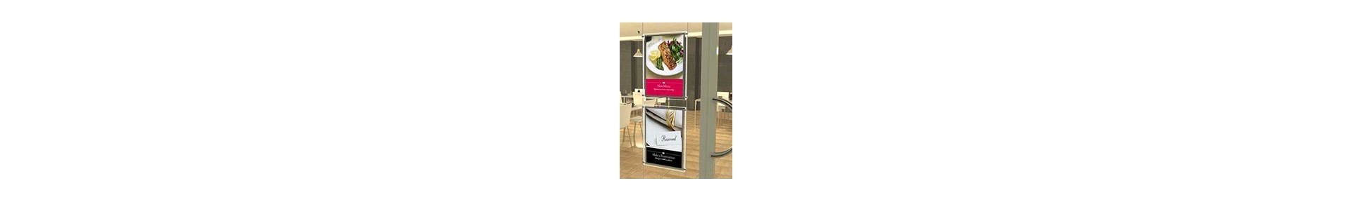 Cable and Rod Display Systems | Cable Poster Displays | Wall Graphics