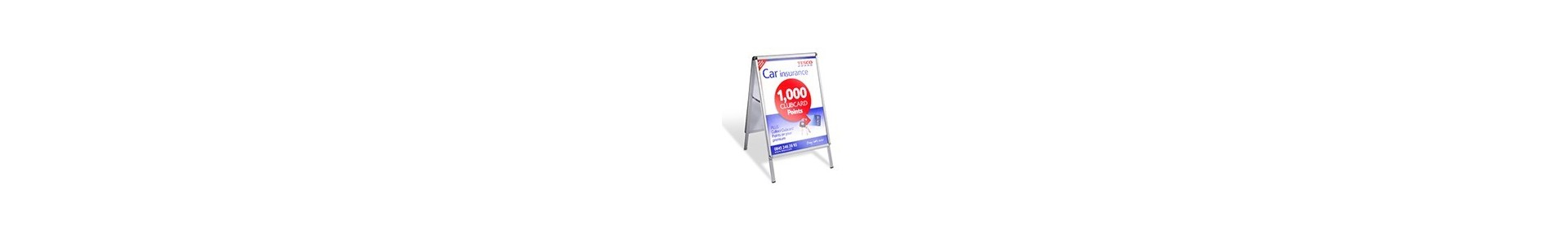 Pavement signs, A Board Frames, Sandwich Boards