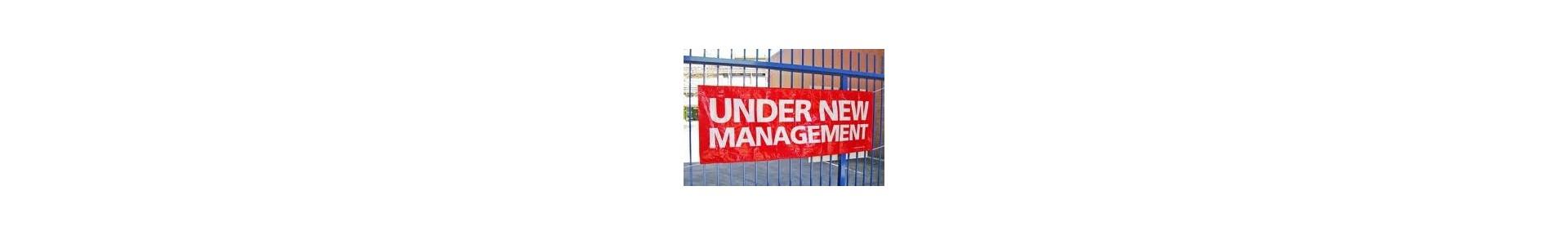 under new management outdoor vinyl banner