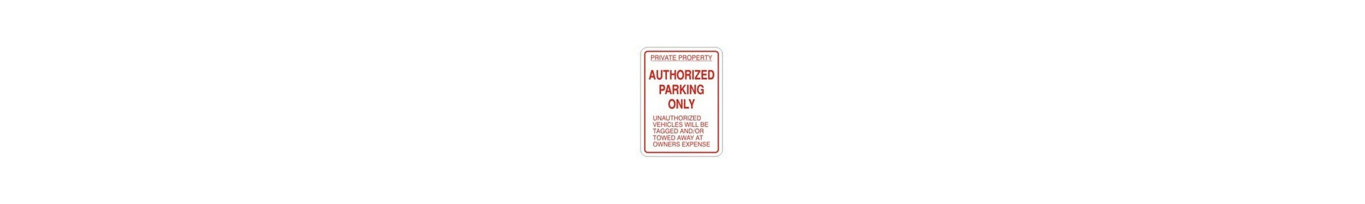 Authorized parking signs