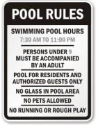 Custom engraved Pool Signs