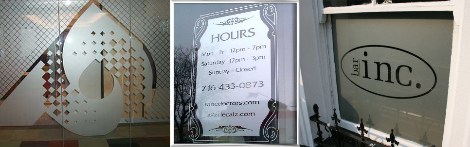 Etched Window Graphics Canada