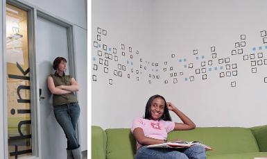 Custom Vinyl Graphics, Wall Signs Canada, building signs, custom wall signs